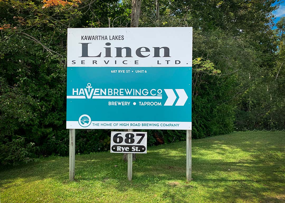Haven Brewing Company Entrance Sign