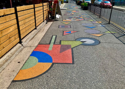 Hopscotch PTBO mural featured downtown Hunter St. Peterborough Ontario