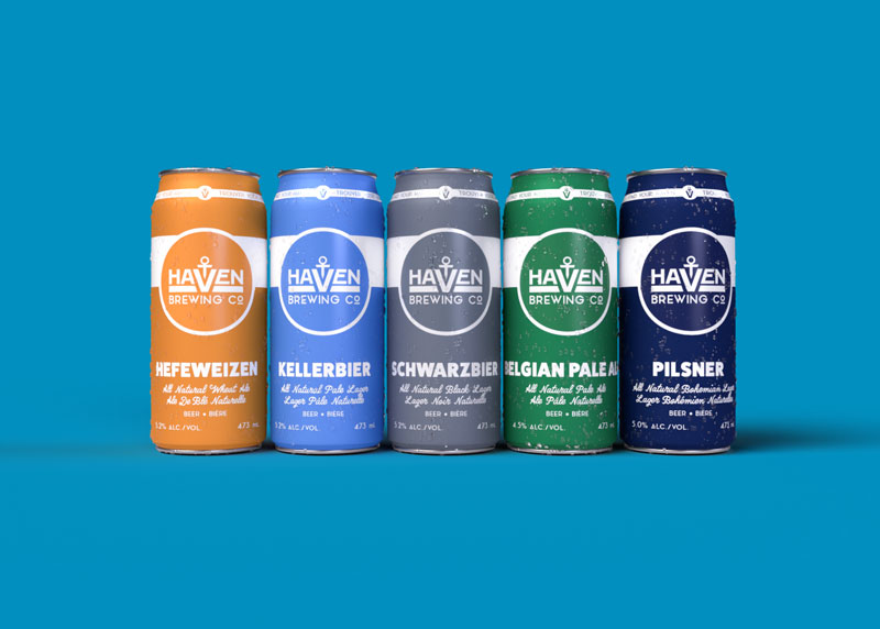 Haven Brewing Company Full Can Line Up Renders.